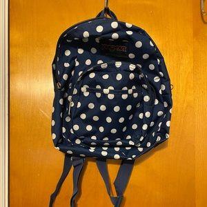 Jansport - Navy Blue Polka Dot Backpack